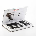 Bravissima Kitchen Conjunto de 6 Facas Top Chef Black C01024 - V1700133