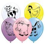 """Qualatex Pack 25 Balões 11"""" Animais da Quinta - 020076477"""