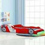 Cama Carro de Corrida LED para Crianças 90x200 cm Vermelho - 243936