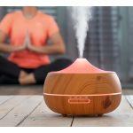 Innovagoods Humidificador Difusor de Aromas led Wooden-effect