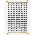 Vertbaudet Tapete com Borlas e Triângulos Branco - 6101101186350