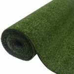 Relva Artificial 0,5x5 m/7-9 mm Verde - 43554