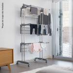 InnovaGoods Estendal Dobrável com Rodas 18 Barras - V0100795