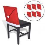 6 Gorros Pai Natal Capas Cadeiras - 131012