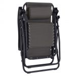 Outsunny Espreguiçadeira Cadeira Dobrável Encosto Reclinável - m3202