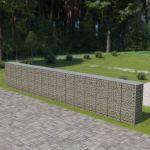 VidaXL Muro Gabião com Tampas Aço Galvanizado 900x50x150 cm