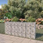 VidaXL Muro Gabião com Tampas Aço Galvanizado 200x20x85 cm