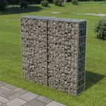 VidaXL Muro Gabião com Tampas Aço Galvanizado 100x20x100 cm