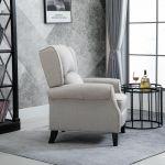 HomCom Cadeira Reclinável c/ Apoio para os Pés Bege 81x84x105cm