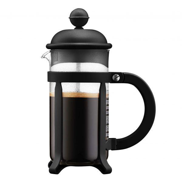 Bodum Java Cafeteira, 3 Chávenas, 0.35 L, Aço Inox, Preto