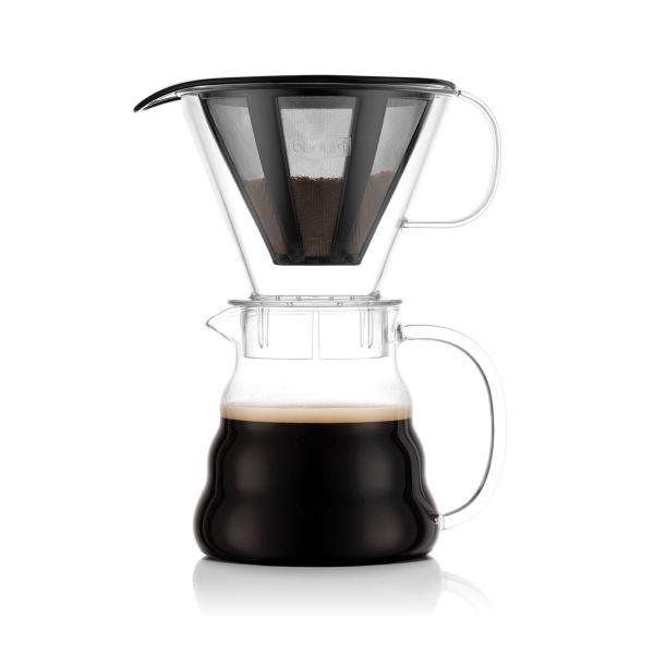 Bodum Melior® Cafeteira com Filtro Permanente em Aço Inox, 0.6 L, Transparente