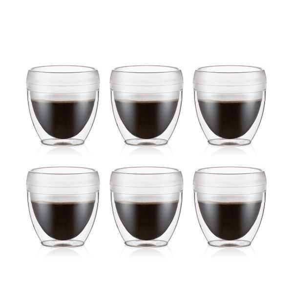 Bodum Pavina Outdoor 6 Pcs Double Wall Tumbler, 0.25l, 8oz, Transparente