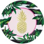 Creative Converting Pratos 23cm Gold Pineapple - 120332535