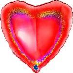 """Grabo Balão Foil Coração 18"""" Holográfico - 460018068"""
