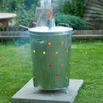 Nature Incinerador de Jardim Redondo 46x72 cm Aço Galvanizado