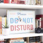 Placa de Metal Vintage Do Not Disturb 30 x 40 cm - bb_H2100019