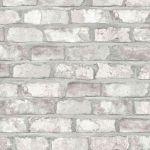 Dutch Wallcoverings Papel de Parede Efeito Tijolos Branco EW3104 - 422378