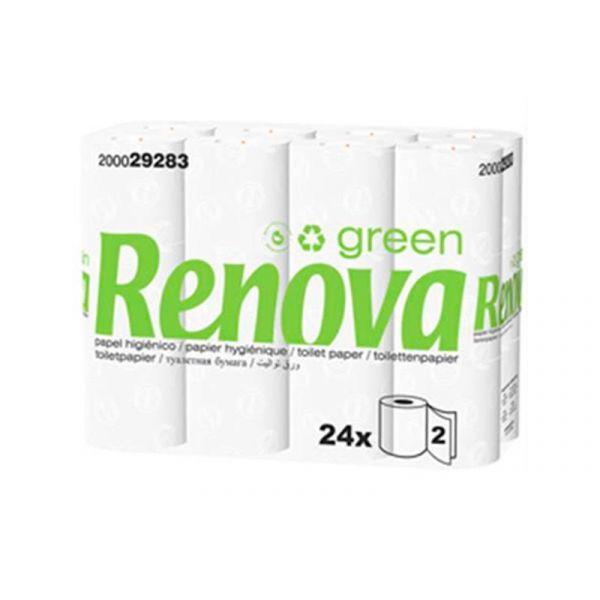 Renova Green Papel Higienico 2Fls Pack 24 16,5mts