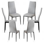 Conjunto 6 Cadeiras Lauter Tecido Cinza