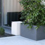 Movelar Vaso de Betão Euclid 78CM Preto Texturado - 81907559