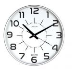 Unilux Relógio de Parede Maxi Pop, 37,5 cm, Cinzento Metalizado - 648138