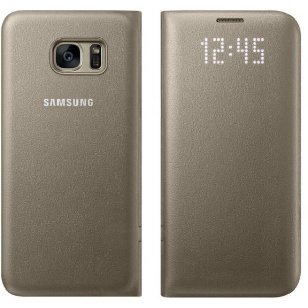 new concept 55558 2608d Samsung Capa LED View Cover para Galaxy S7 Edge Gold - EF ...