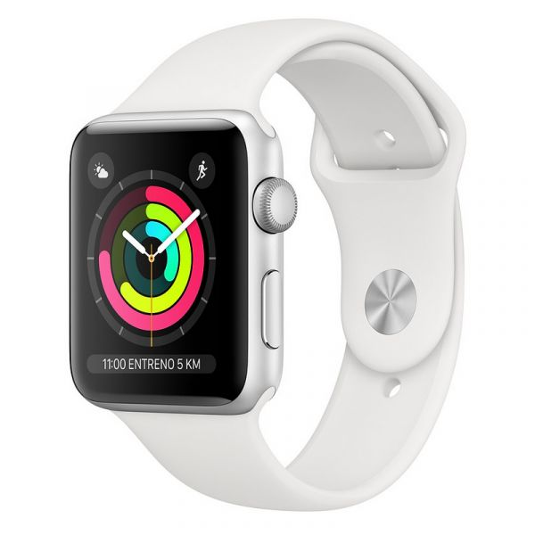 Smartwatch Apple Watch Series 3 GPS 38mm Silver Aluminum Case with White Sport Band