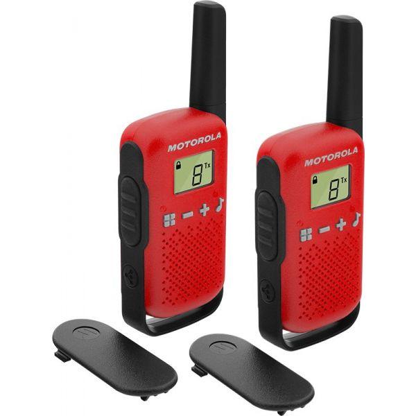 Motorola TLKR T42 Pack 2 Walkie Talkie Red