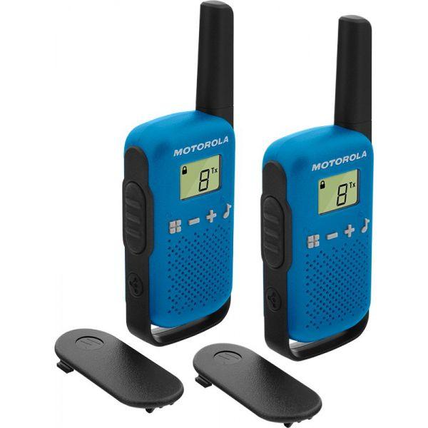 Motorola TLKR T42 Pack 2 Walkie Talkie Blue