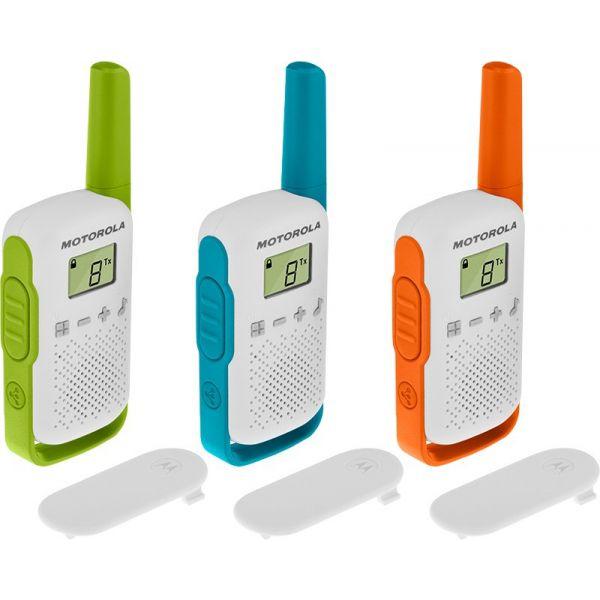 Motorola TLKR T42 Pack 3 Walkie Talkie