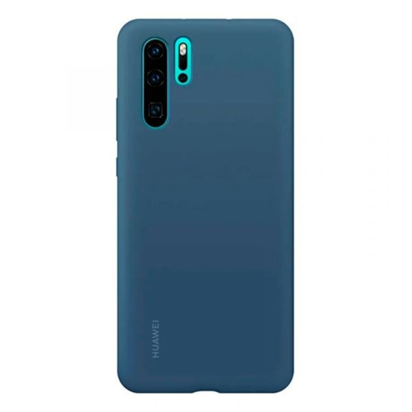 Huawei P30 Pro Capa Silicone Blue - H6901443273041