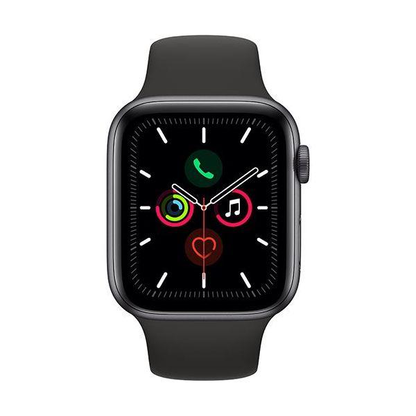 Smartwatch Apple Watch Series 5 44mm Alumínio Cinzento c/ Bracelete Desportiva Preto - MWVF2PO/A