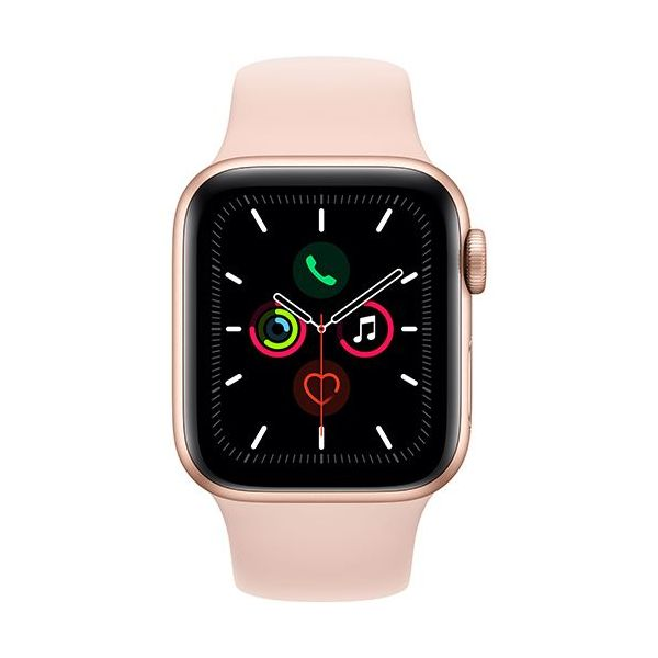 Smartwatch Apple Watch Series 5 40mm Alumínio Dourado c/ Bracelete Desportiva Rosa Areia - MWV72PO/A