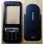 Tampa Frontal e Tampa Bateria Preta Nokia N73 Original