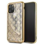 Guess Capa 4G Peony Liquid Glitter para Apple iphone 11 Pro Max, Gold
