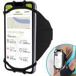 Avizar Braçadeira Desportiva para Smartphone de 4 a 6 Polegadas com Elástico Preto - BRA-BK-VUP180