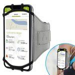 Avizar Braçadeira Desportiva para Smartphone de 4 a 6 Polegadas com Elástico Cinza - BRA-GY-VUP180