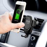 Suporte de telemóvel com carregador sem fios para automóveis Wolder InnovaGoods - V0103067