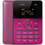 Mini Telemovel Tipo Cartão Rosa