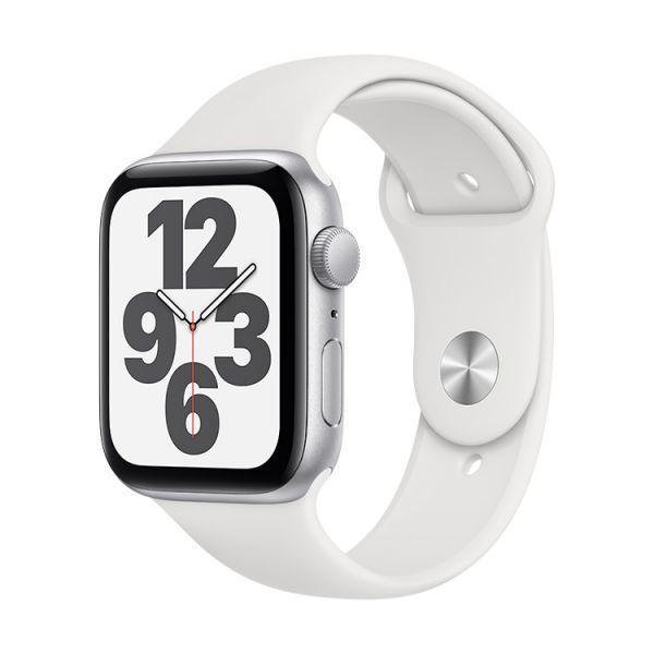 Smartwatch Apple Watch SE 44mm Alumínio Prateado c/ Bracelete Desportiva White - MYDQ2PO/A