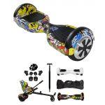 Pack Hoverboard + Kart + Stick + Bolsas + Acessórios Protecção c/ Bluetooth (HIP HOP) - 56225
