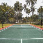 HomCom Conjunto de Rede de Badminton ou Vôlei Portátil Ajustável 94-158cm
