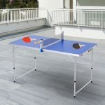 Outsunny Mesa de Ping-Pong Dobrável - A20-145