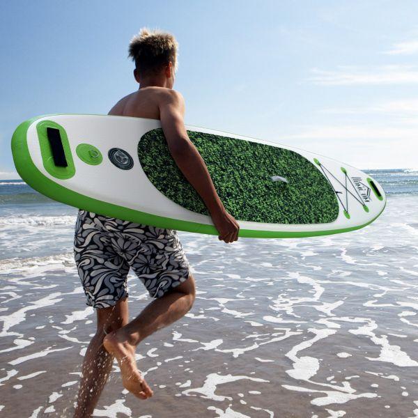 HomCom Prancha Paddle Insuflável c/Remo 302x76x10cm - A33-006