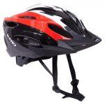 B-pro Capacete de Ciclismo com Viseira Vermelho / Preto 58-62 cm