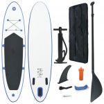 VidaXL Conjunto Prancha de Paddle Sup Insuflável Azul e Branco - 92202