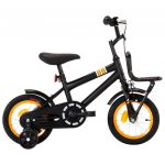 """Bicicleta Jr C Plataforma Frontal Roda 12"""" Preto/laranja"""