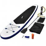 Conjunto Prancha De Paddle Sup Insuflável Azul E Branco - 91582
