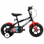 """Bicicleta De Criança Roda 12"""" Preto E Vermelho"""