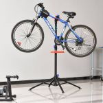 HomCom Suporte de Reparo Bicicleta Dobrável 110-180cm Preto - AA0-079